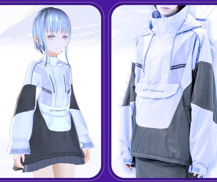 chroma store VRoid virtual fashion model wearing anorak