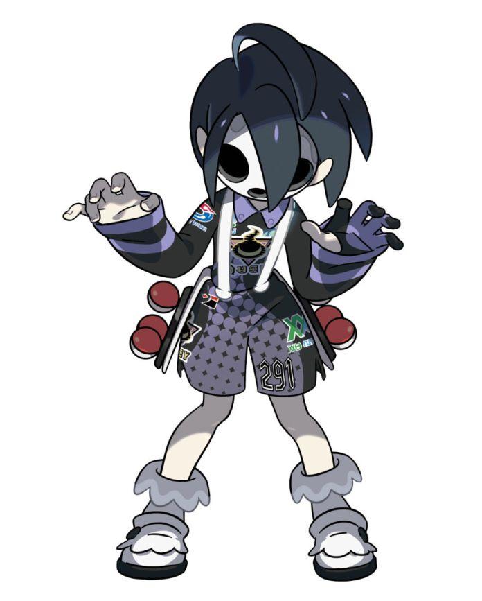 Ghost type Gym Leader Allister from Pokemon Shield Version