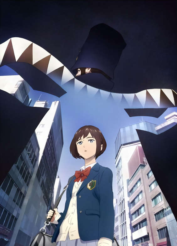 Boogiepop and Others anime key promotional image featuring Boogiepop and Touka Miyashita.
