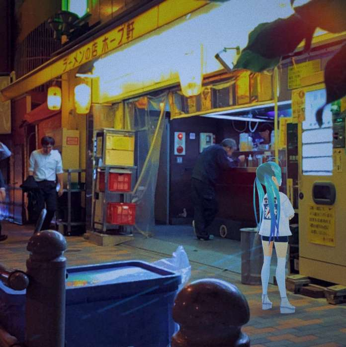 itopoid buys something form the vending machine at night