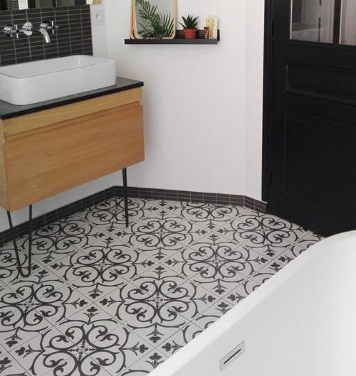 20x20 decor vintage branche classique noir a
