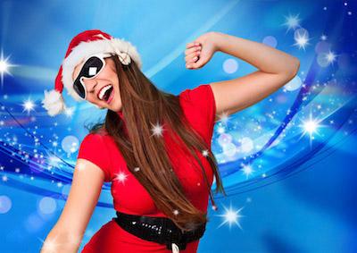 Weihnachtsfrau Weihnachts Dj