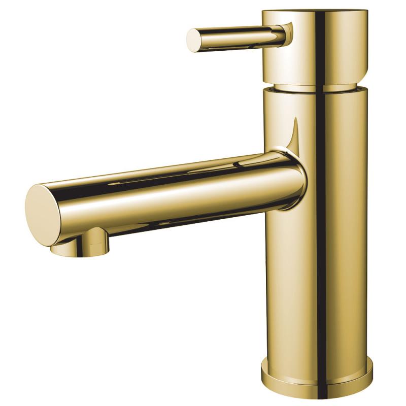 brass gold bathroom faucet