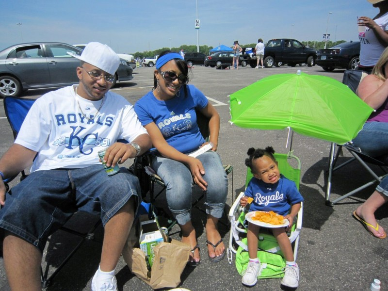 Tailgating before a KC Royal's game. Photo Source: Cyndi Wright of MrsWrightWrites