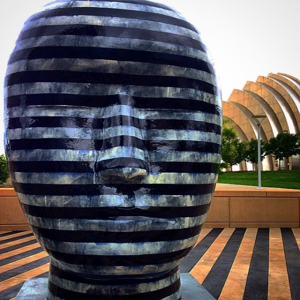 Artwork outside of the Kauffman Center for the Performing Arts. Photo Source: Leanne Breiby of Grow Your Giving