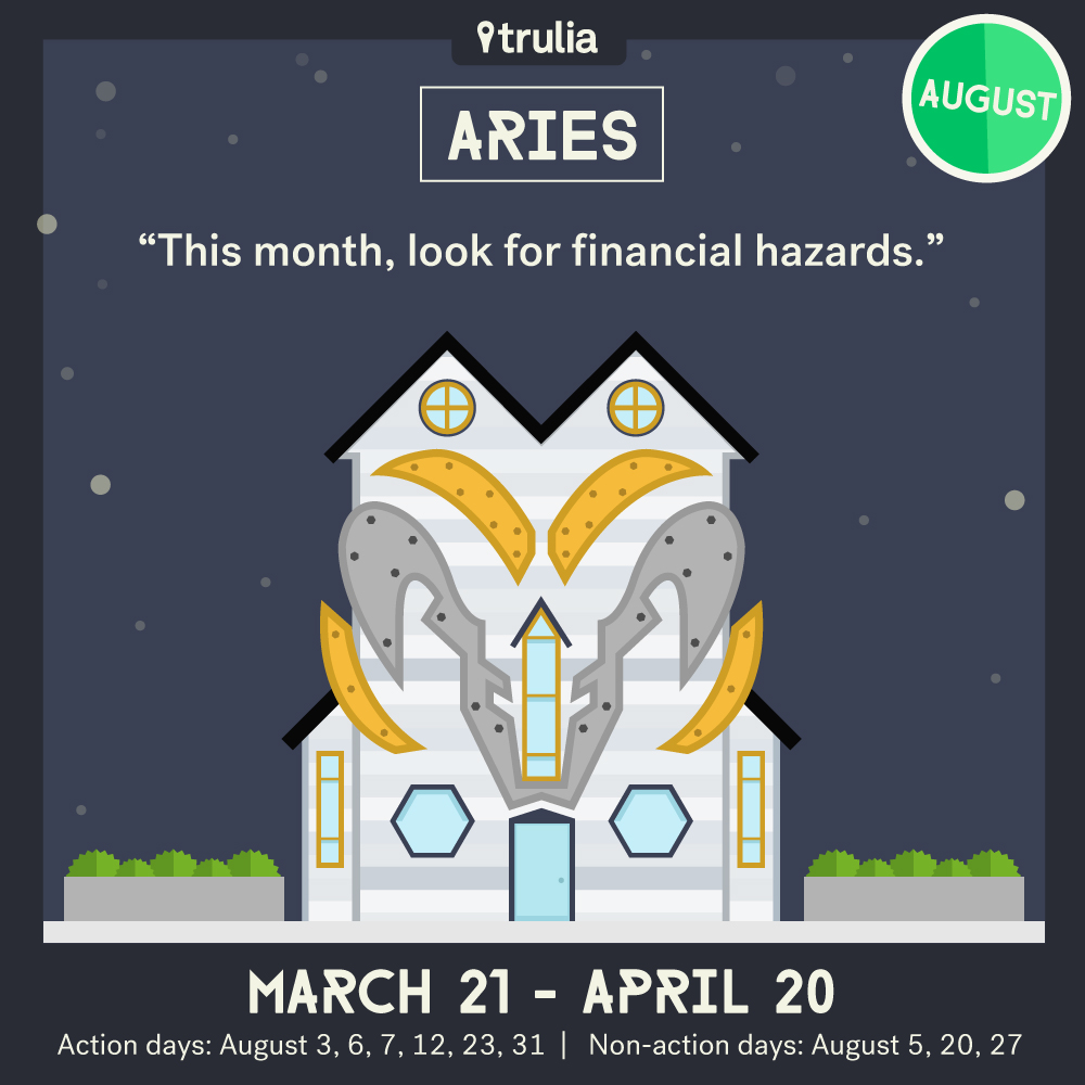 Trulia Money Horoscope August Aries