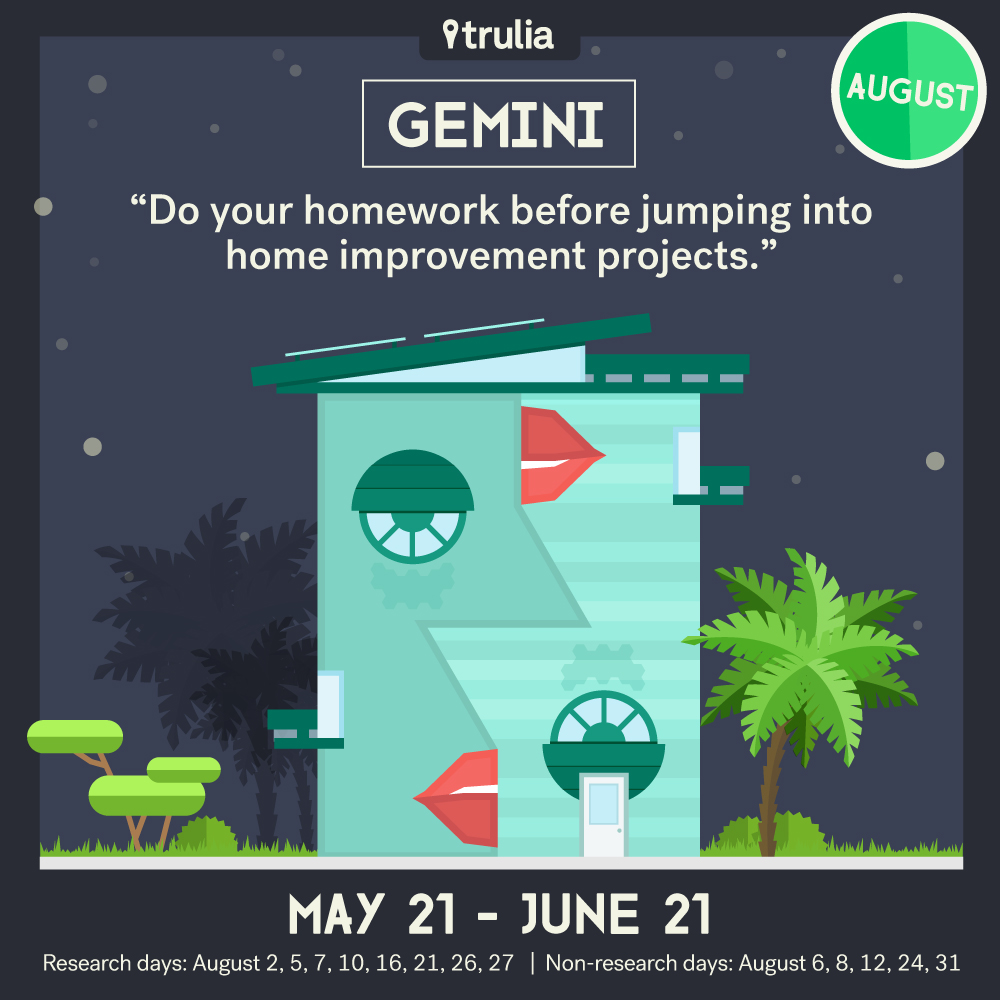 Trulia Money Horoscope August Gemini