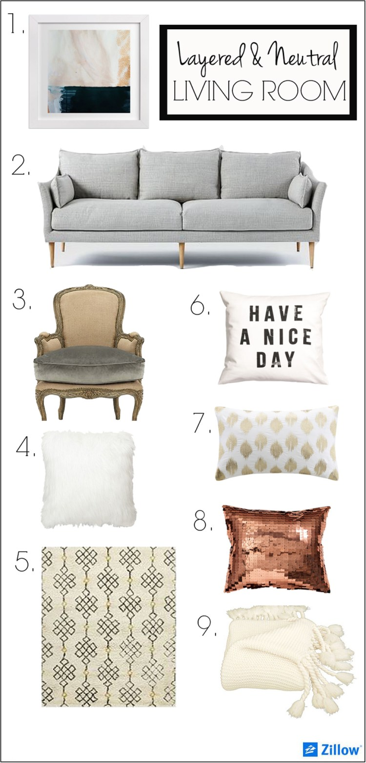 layered and neutral living room