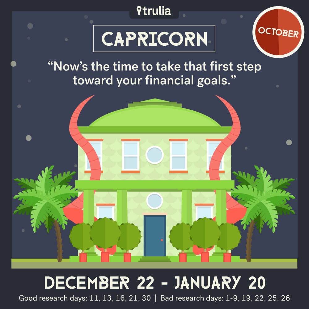 Trulia October Horoscope Capricorn