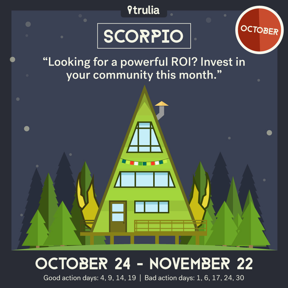 Trulia October Horoscope Scorpio