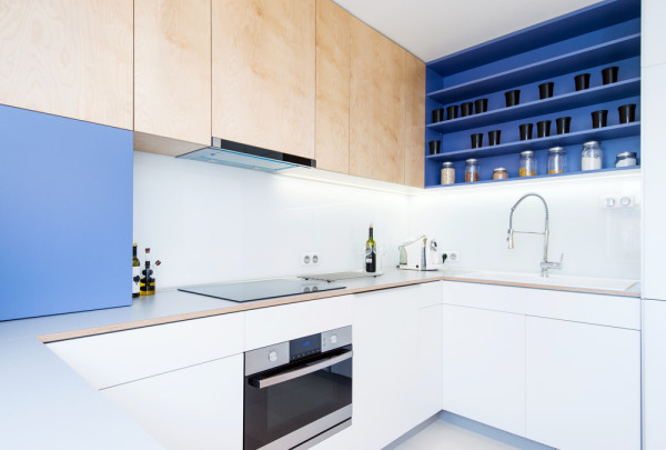 Blue Interior Kitchen Cabinet