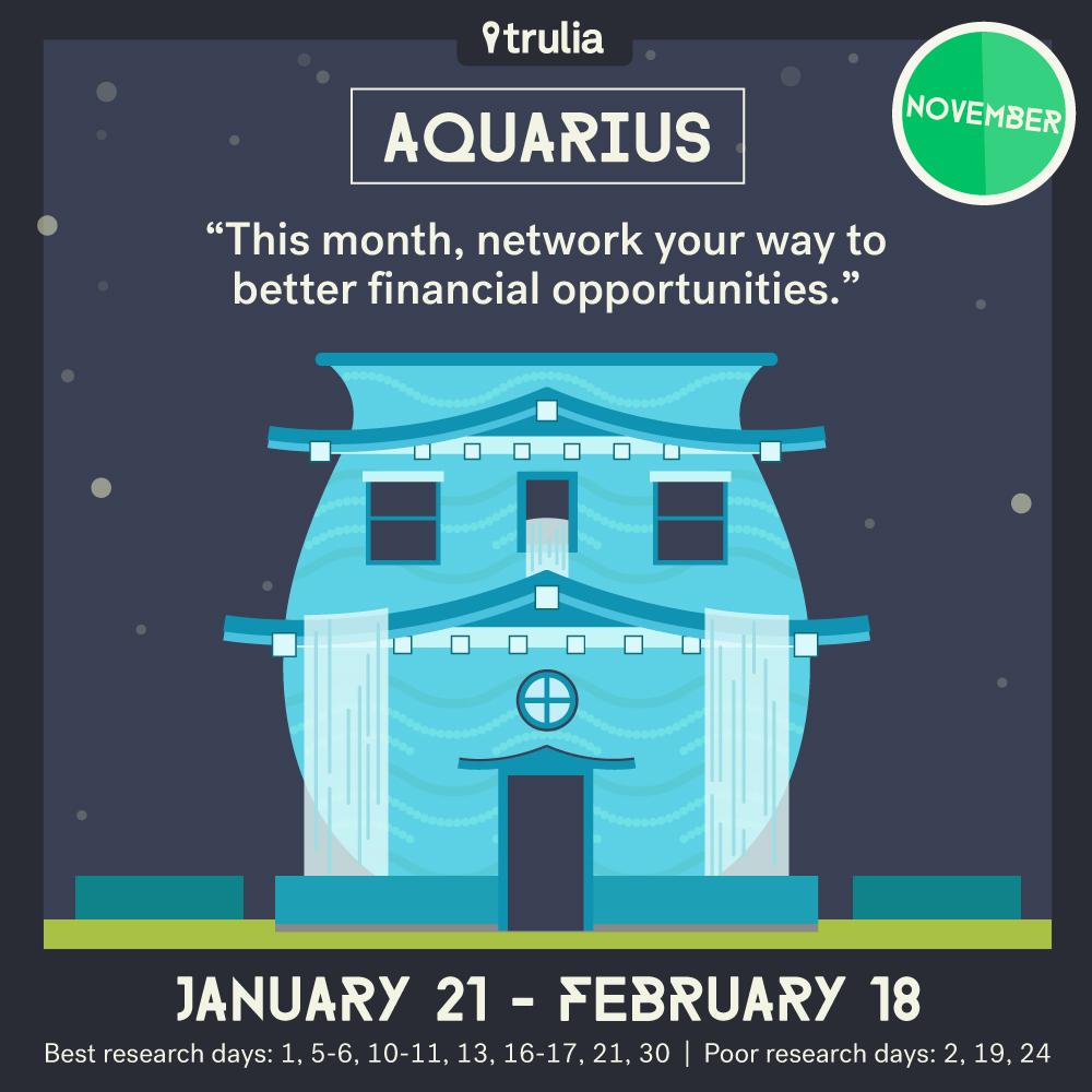 November Money Horoscope Aquarius