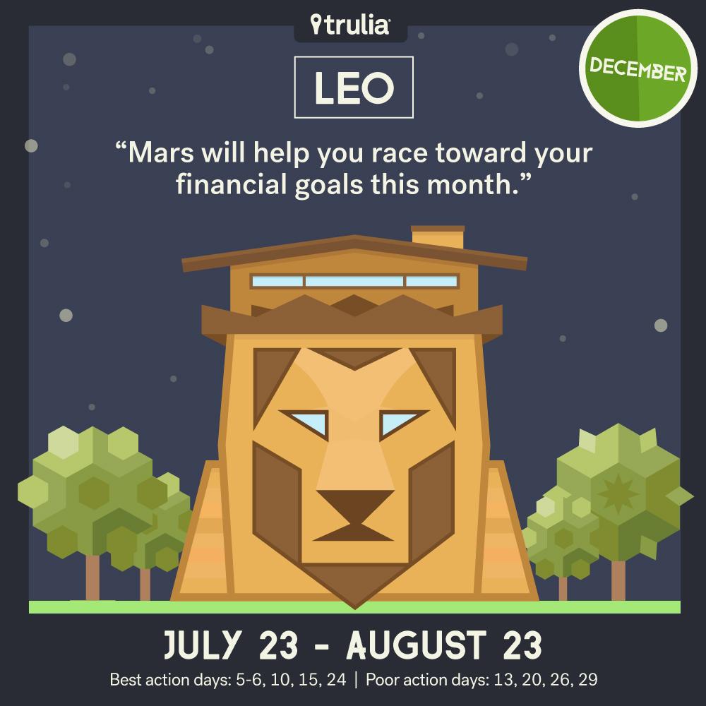 December money horoscope Leo