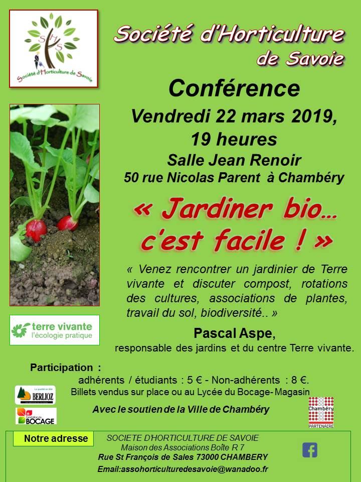 Conference Jardiner Bio C Est Facile A Chambery Le 22 Mars 2019 Nivolet Com