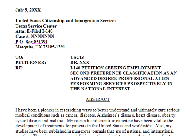 Niw recommendation letter thedoctsite niw green card howtoviews co expocarfo Images