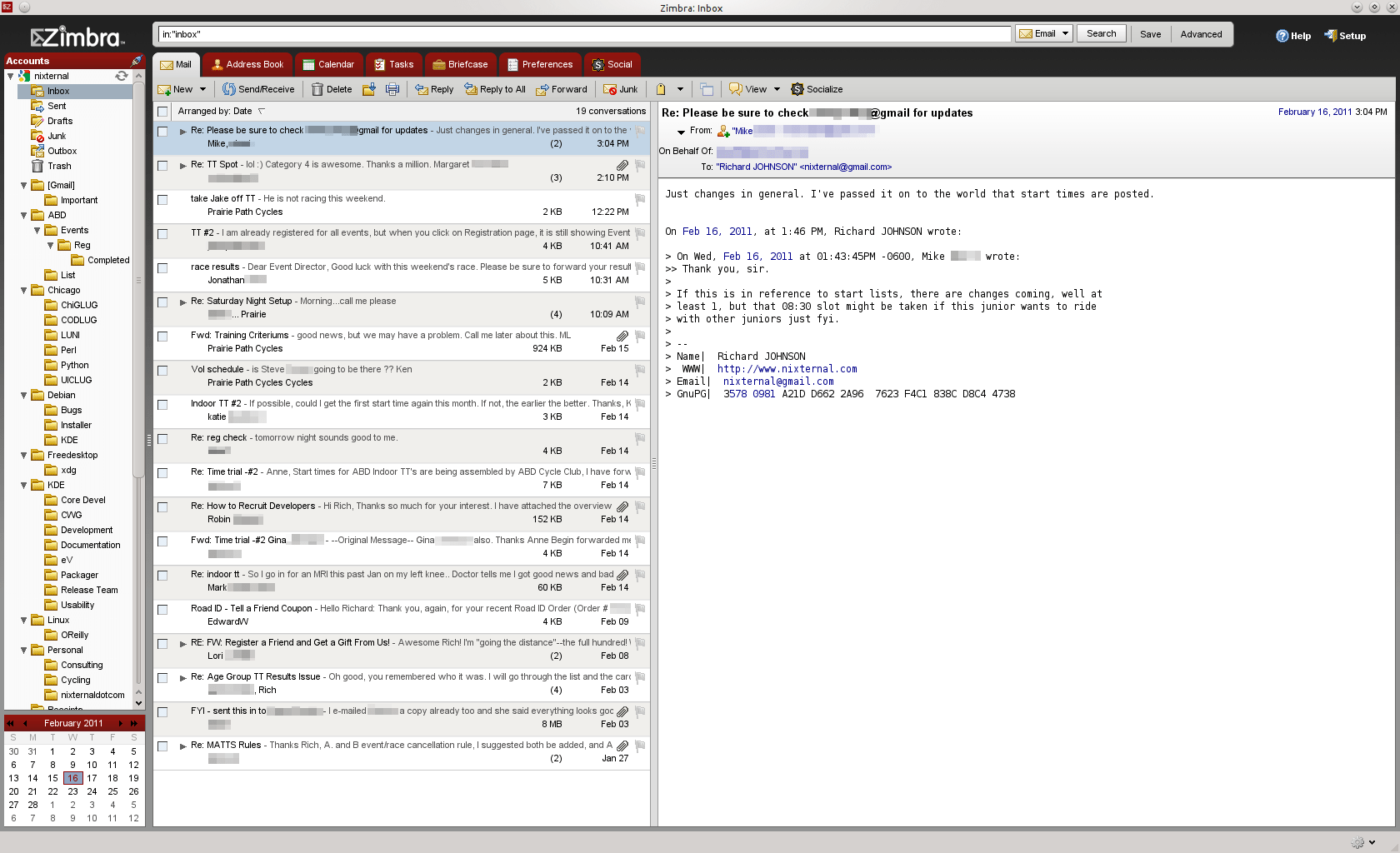 Linux and Gmail II - Zimbra Desktop - Richard A  Johnson's Blog