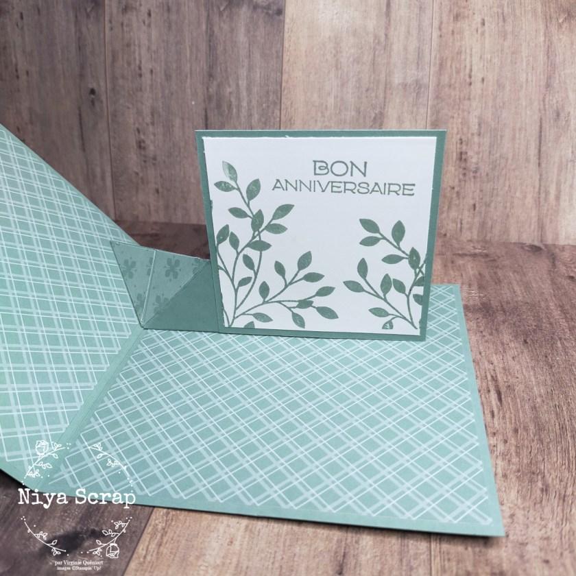 Niya Scrap - Carte pop up surprise - QSMS - matériel Stampin' Up!