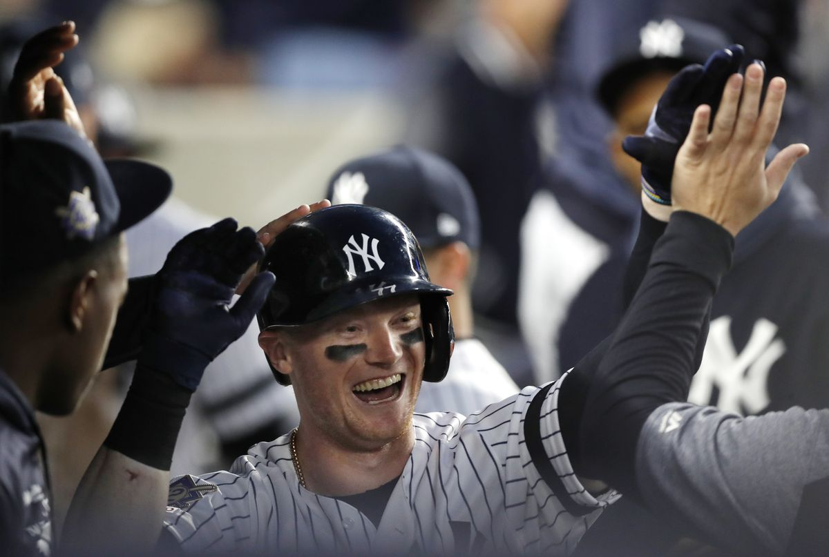 91d9fd9649a NEW YORK – Watch Yankees left fielder Clint Frazier rock a solo home run in  the second inning of a game vs. the Royals on Saturday at Yankee Stadium.