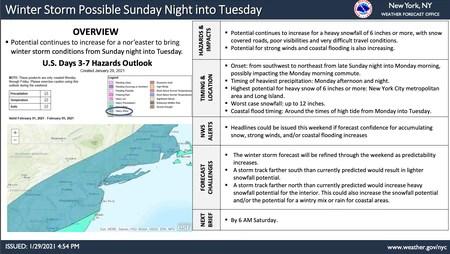NJ weather - winter storm watch