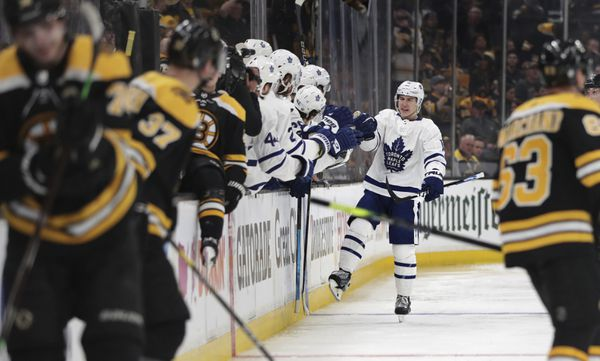 The Toronto Maple Leafs and Boston Bruins meet in game two of their 2019 Stanley Cup Playoffs first round series on Saturday. (AP Photo | Charles Krupa)