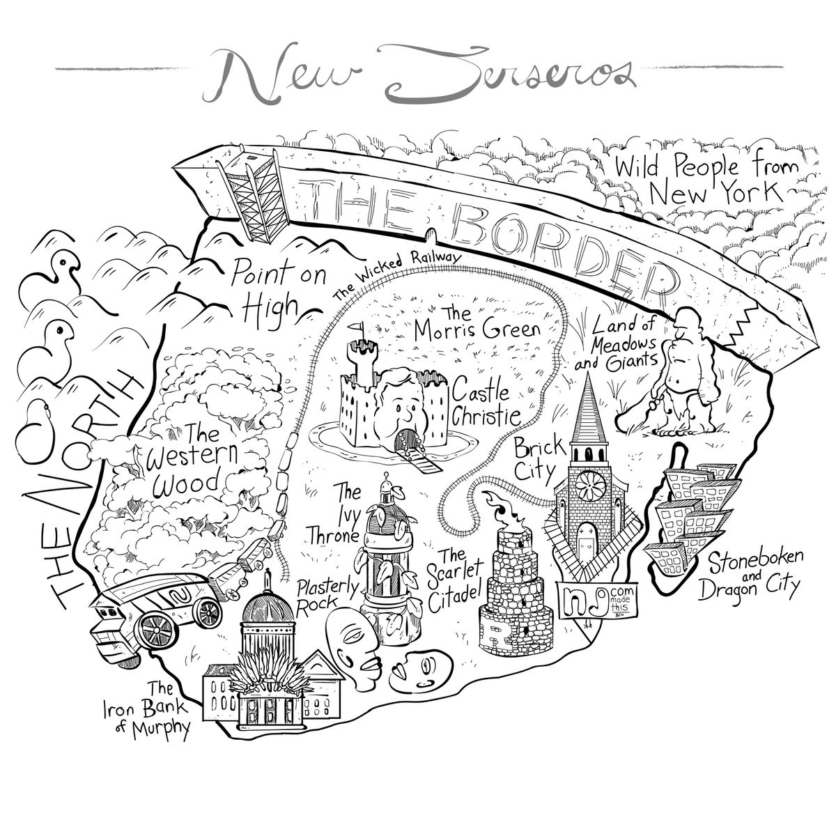 We Redrew The N J Map For Game Of Thrones Welcome To New Jerseros