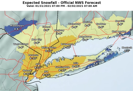 NJ weather - snowstorm forecast updates 1-30-21
