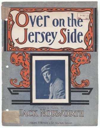 """The sheet music to """"Over on the Jersey Side."""""""