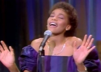 "Whitney Houston, on ""The Merv Griffin Show"" in 1983."