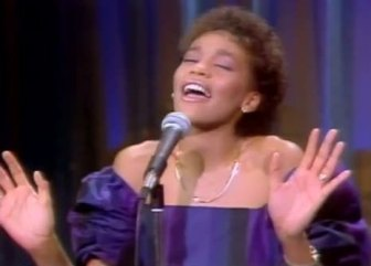 "Whitney Houston, on ""The Merv Griffin Show"" in 1983."