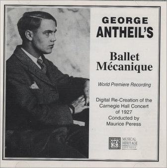 "The cover of a 1927 recording of George Antheil's ""Ballet Mecanique."""