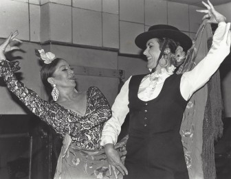 Lucena with Maria Alba in 1979.