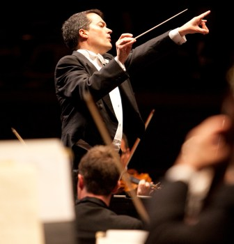 Jacques Lacombe, who will be leaving the New Jersey Symphony Orchestra after its 2015-16 season, led the orchestra through its 2014-15 season opening shows this weekend in Newark, New Brunswick and Morristown.