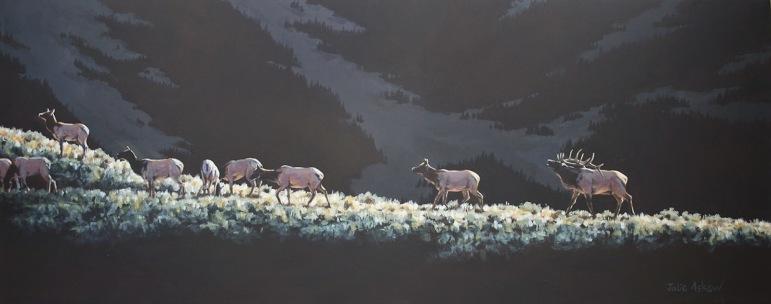 """""""Elk Ridge,"""" by Julie Askew."""