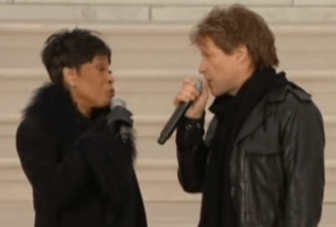 """Bettye LaVette and Jon Bon Jovi sing """"A Change Is Gonna Come"""" together in 2009, to honor President Obama's first inauguration."""