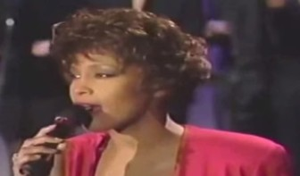 """Whitney Houston performs """"Do You Hear What I Hear?"""" on """"The Tonight Show"""" in 1990."""