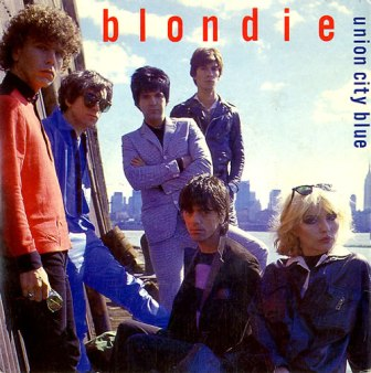 """The cover of the 1980 Blondie single, """"Union City Blue."""""""