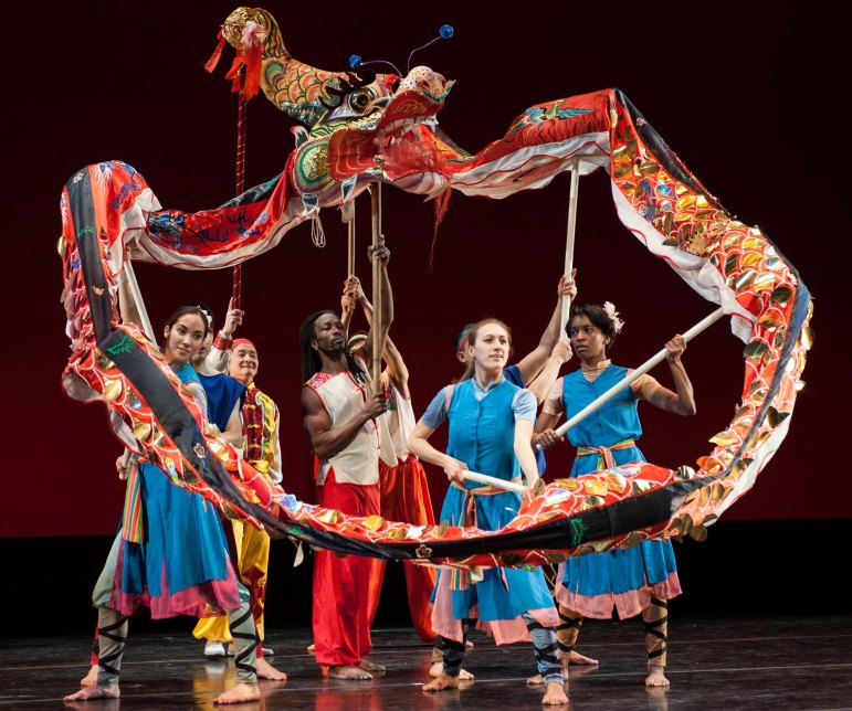 Nai-Ni Chen Dance Company performs the Dragon Dance.