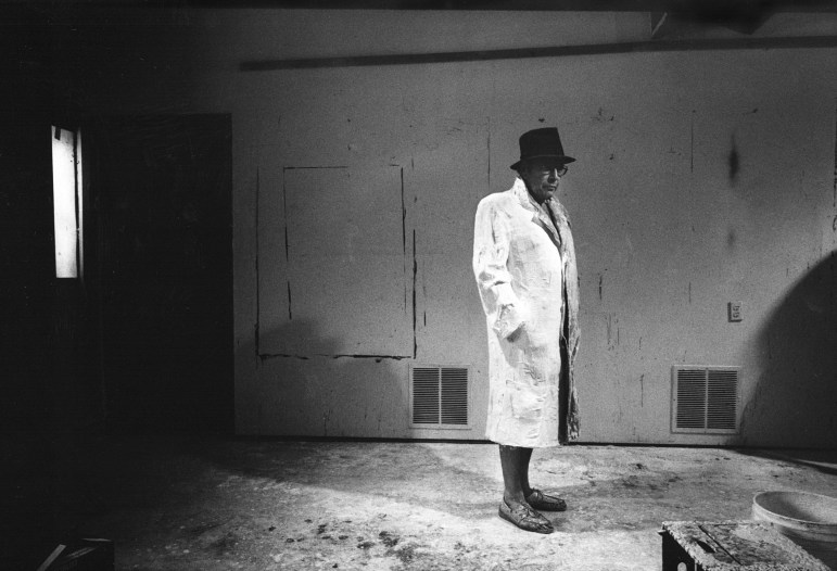 """Casting George Segal for a Figure in Depression Bread Line,"" a 1991 photograph by Donald Lokuta"
