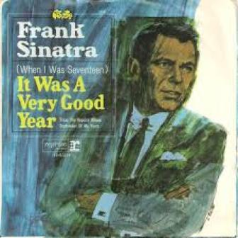 "The cover of Frank Sinatra's single, ""It Was a Very Good Year."""