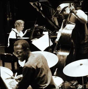 From left, Chick Corea, Brian Blade and Christian McBride of the Chick Corea Trio.
