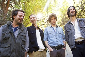 Dawes (from left, Taylor Goldsmith, Tay Strathairn, Griffin Goldsmith, Wylie Gelber) will perform at the XPoNential Music Festival in Camden.