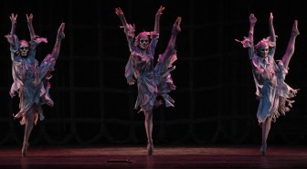 "The witches in New Jersey Ballet's ""Macbeth."""