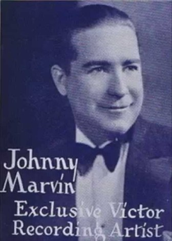 Singer and ukulele player Johnny Marvin.