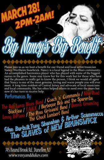 A poster announcing the Big Nancy benefit.