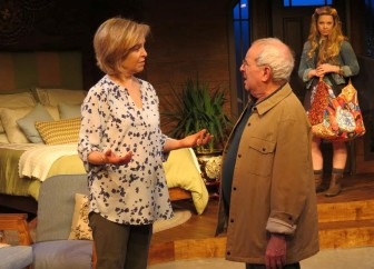 """From left,  Jill Eikenberry, Michael Tucker and Pheonix Vaughn co-star in """"The M Spot,"""" which is at New Jersey Repertory Theatre in Long Branch through Marcdh 29."""
