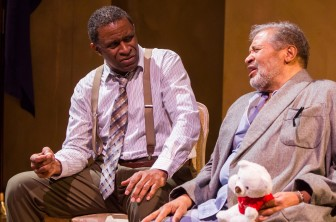 """Jerome Preston Bates, left, and Count Stovall co-star in """"Autumn,"""" at the Crossroads Theatre in New Brunswick through May 3."""