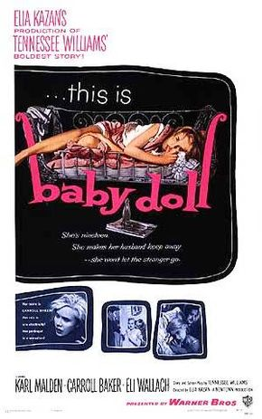 """A poster for the 1956 film, """"Baby Doll."""""""