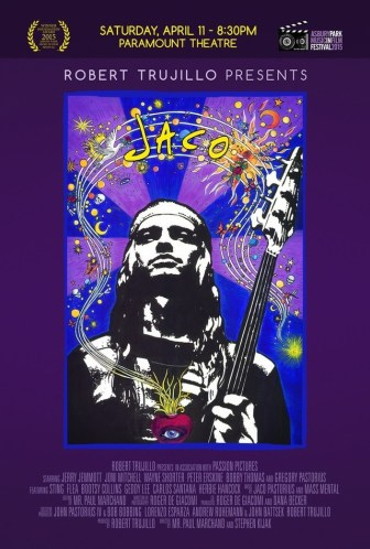 "A poster for the movie ""Jaco,"" which screened in Asbury Park on Saturday."