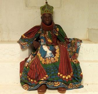A photograph of HRM Agbogidi Obi James Ikechukwu Anyasi II, Obi of Idumuje Unor.