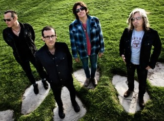The current lineup of Stone Temple Pilots includes, from left, Robert DeLeo, Chester Bennington, Dean DeLeo and Eric Kretz.